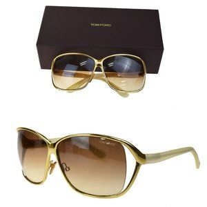Auth Tom Ford Sunglasses Gold, White